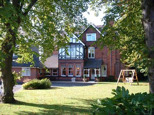 Westwood House Residential Care Home in Ashby exterior of home with garden